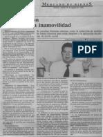 Hay Oposicion a Extender La Inamovilidad - Luisa Amelia Rodriguez - Diario Economia Hoy 29.08.1989