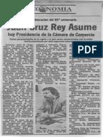 Juan Cruz Rey asume presidencia Camara de Comercio de Valencia - El Carabobeño 26.07.1989