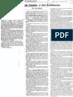 Las Cartas de Credito y Sus Incidencias - Por Yves Girard - Diario Sol de Margarita 17.06.1989