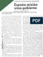 Para conocer proceso de reconversion industrial viajo a Españamision empresarios - gobierno - 1989