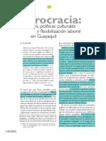 Políticas culturales y flexibilidad laboral en Guayaquil