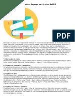10 Dinámicas de Grupo Para La Clase de ELE