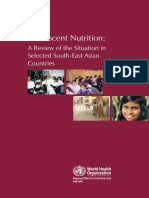 Adolescent Nutrition WHO