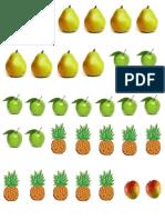 Frutas Matemáticas Primer Grado