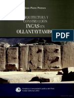 Arquitectura y Construccion Inca en Ollantaytambo, Jean Pierre Protzen