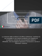 Abitudini Nel Kadosh Author Jonathan Azael [Adams Brand] Italiano