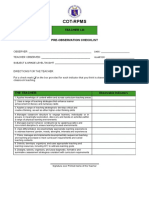 Cot Rating Forms