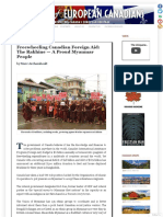Freewheeling Canadian Foreign Aid - the Rakhine — A Proud Myanmar People
