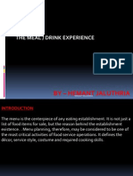 Meal Drink Experience & Expectations by HEMANT JALUTHRIA
