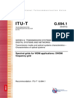 ITU-T Frequency Grids WDM Applications