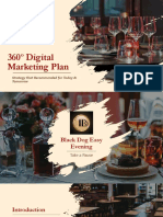 360º Digital Marketing Plan for Black Dog Easy Evening
