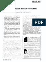 Tests to Establish Concrete Pumpability Jl74-19