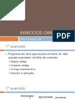Exercícios Orientados JAVA