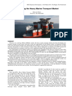 MCEDD2013 - Changing the Heavy Marine Transport Market - O Peters