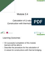 Module 3.4 Caclulation of U Value Thermal Bridging