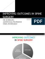 Improving Outcomes in Spine Surgery