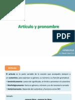 Artículo y Pronombre