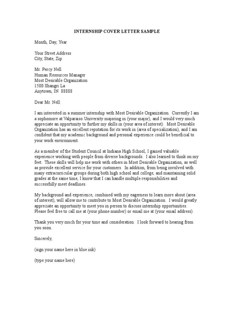 Internship Cover Letter Template from imgv2-2-f.scribdassets.com