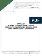 CNS-NT-03-03_MONTAJE_TRANSFORMADORES DE AISLAMIENTO CON POTENCIA MENOR A 50kVA (1).pdf