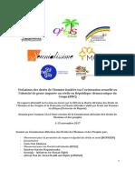 Rapport Alternatif sur les violations des droits de l'Homme fondées sur l'orientation sexuelle ou l'identité de genre imputée ou réelle en RDC - CADHP