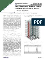 Wind Analysis over Multistorey Building Having Flat Slab-Shear Wall Interaction