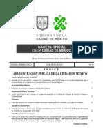 Gaceta Oficial CDMX, May 22, 2019