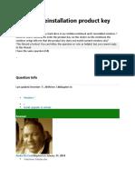 Windows reinstallation product key problem.docx