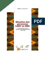 Rapport alternatif sur les violations des droits de l'Homme contre les personnes LGBT - EPU RDC