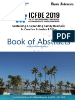 Icfbe 2019-Book of Abstracts