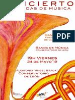 CONCIERTO BANDA JUVENIL AMGu (Palencia) & BANDA DE MÚSICA CONSERVATORIO DE LEÓN