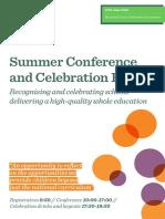 WE Summer Conference Programme