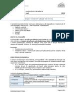 Informação Prova Oral Português 9º Ano 2018