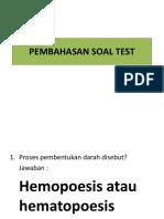 Pembahasan Soal Test Hematologi