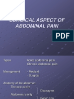 Surgical Aspect of Abdominal Pain