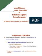 Divsion - Slides - Relational Algebra