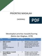 Prioritas Masalah 3 c