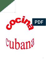 Libro Cocina Cubana