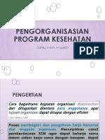 Pengorganisasian Program Kesehatan