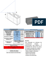 Especificacion Block Hueco de Concreto 15x20x40 Linea Estructural Nmx-c-404