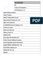 List of Participating Companies