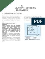 10. Flocculation - Settling Flotation