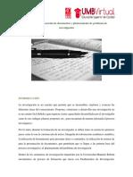 Elaboracion de Documentos y Planteamiento de Problema de Investigacin