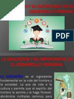 La Educacion y Su Importancia en El Desarrollo