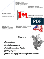 ECG of US, Mexico and Canada