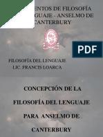 Fragmentos de Filosofía Del Lenguaje - Anselmo De