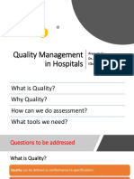 Quality Management in Hospital