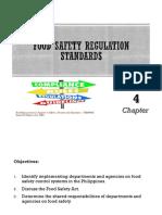 (4) Food Safety Regulation Standards