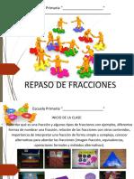 Diapositivas Para Repaso de Fracciones