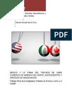 México y La Firma Del TLCAN Antecedentes