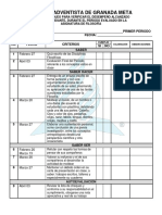 Lista de Chequeo de Filo 10º y 11º 1er Periodo